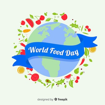 World food day with ribbon