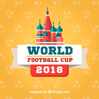 World football cup background in flat style