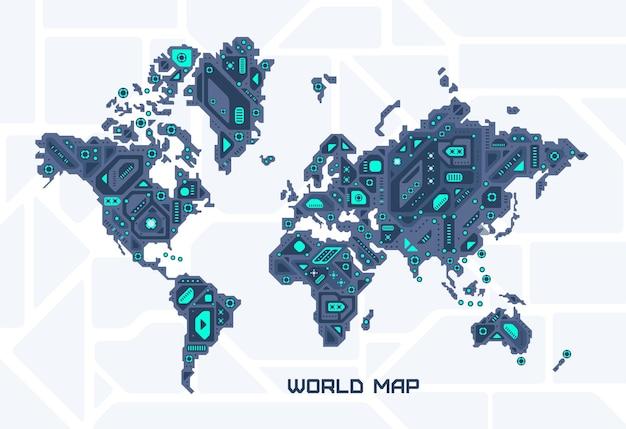 World futuristic map