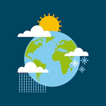 World globe climate