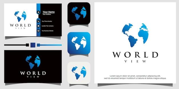世界の地球のロゴ