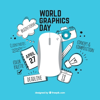 World graphics day background