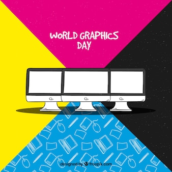 World graphics day background