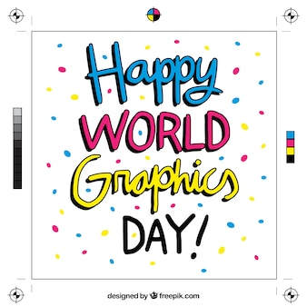 世界のグラフィックデイの背景