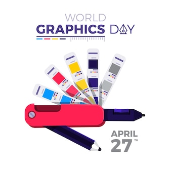 World graphics day illustration