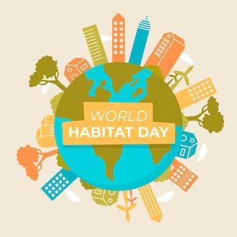 世界の生息地の日のお祝い