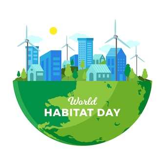 World habitat day concept