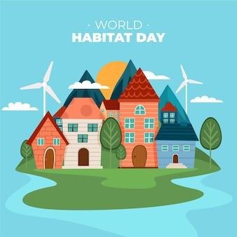World habitat day concept