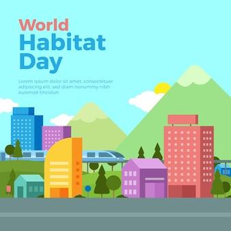 World habitat day illustration