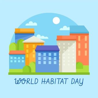 フラットなデザインの世界生息地の日