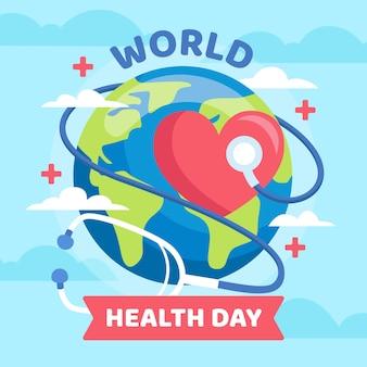 World health day background in flat design