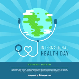 World health day background in flat style