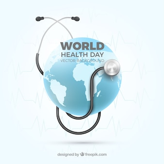 World health day background in realistic style