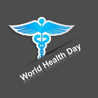 World health day background with a medical symbol