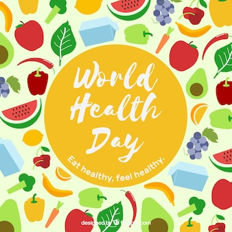 World health day background with healthy food