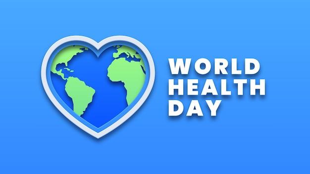 世界保健デーのデザインコンセプト