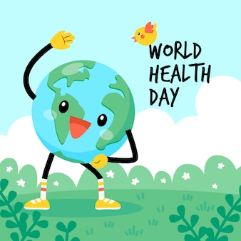 World health day earth doing cardio