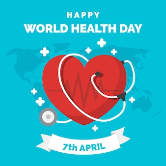 World health day flat design wallpaper