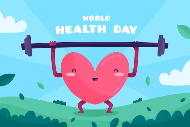 World health day in flat design