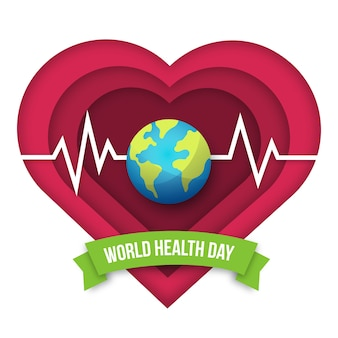 World health day in flat design