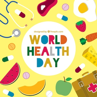 World health day fund with food