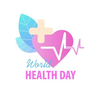 World health day greeting card