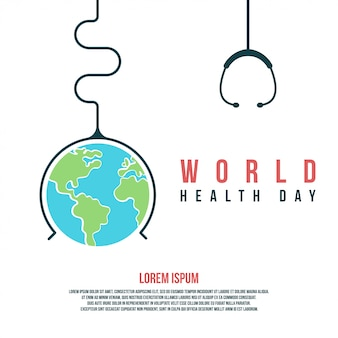 World health day illustration and background to celebrate world health day