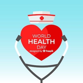 World health day illustration with medical equipment