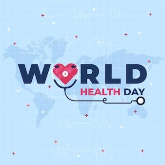 Концепция стетоскопа всемирный день здоровья