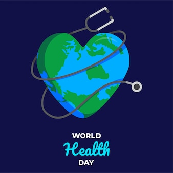 World health day text with white background desidn graphic