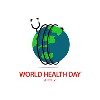 Дизайн векторного шаблона всемирного дня здоровья