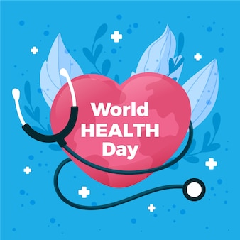 World health day wallpaper flat design