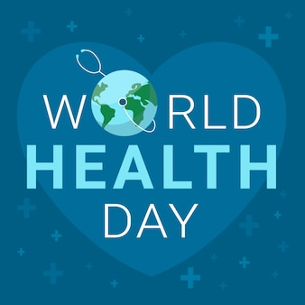 World health day wallpaper with earth