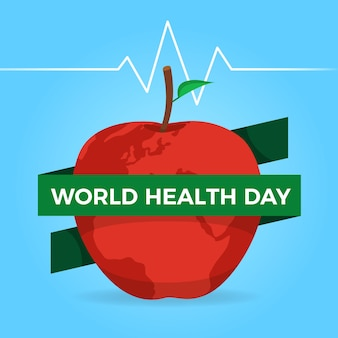 World health day with apple