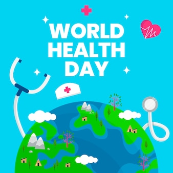 World health day with planet earth