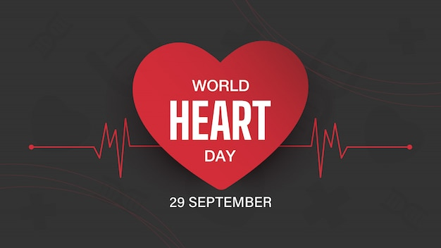 World heart day banner desing.