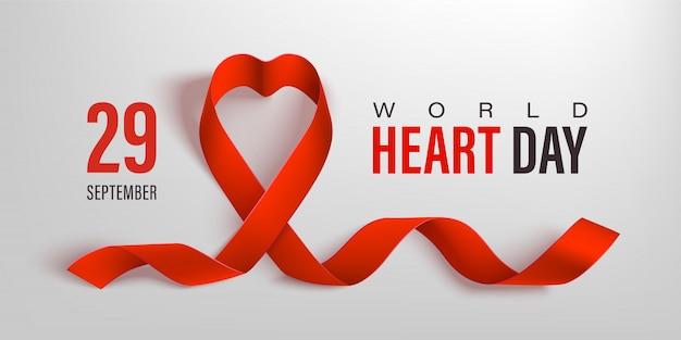 World heart day banner.