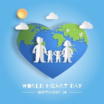 World heart day concept, family holding hands.