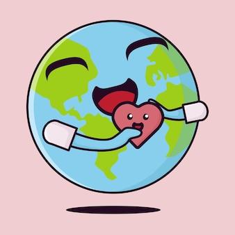 Всемирный день сердца плоский значок
