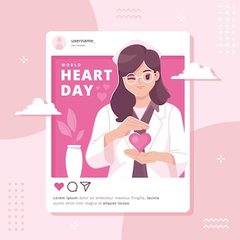 World heart day illustration background