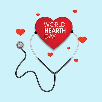 World hearth day vector illustration design template
