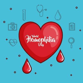 World hemophilia day icons