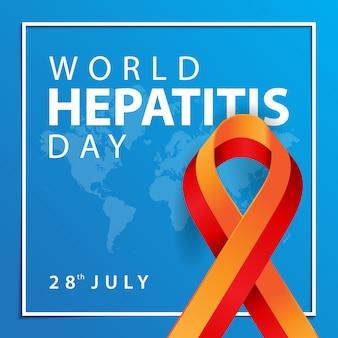 World hepatitis day, awareness card
