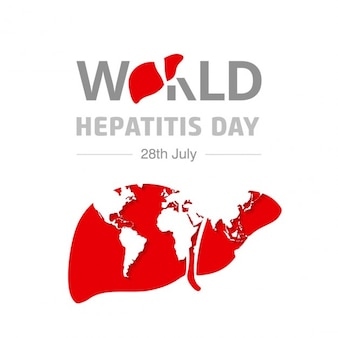 World hepatitis day background with map