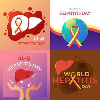 World hepatitis day illustration