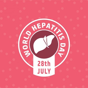 World hepatitis day pink background