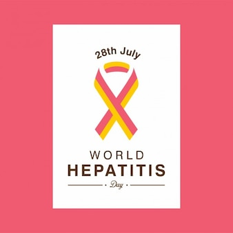 World hepatitis day ribbon flyer