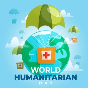 World humanitarian day concept