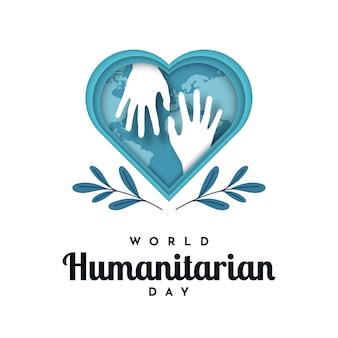 World humanitarian day design