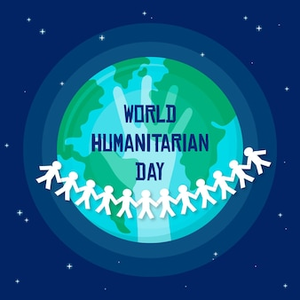 World humanitarian day flat design